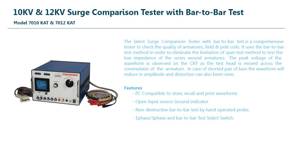 10KV & 12KV Surge Tester with Bar-to-Bar Test